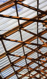 Interior Wooden Roof Supports Royalty Free Stock Photography