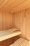 Interior of a wooden sauna Royalty Free Stock Photos