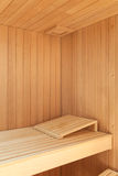 Interior of a wooden sauna Stock Images