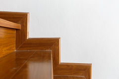 Interior wooden staircase of new house Royalty Free Stock Photography