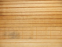 Interior Wooden Tiles. Reverse side of wooden tiles slatted together to be used as ceiling or wall tiles Royalty Free Stock Photos