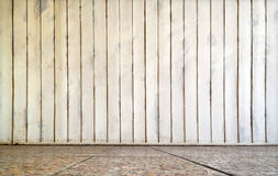 Interior of wooden wall and tile floor Royalty Free Stock Photo