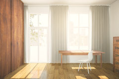 Interior with wooden wardrobe Royalty Free Stock Photos