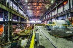 Interior of workshop factory Royalty Free Stock Photos