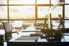 Interior Workspace background stock images