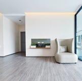 Interior y decoración vivos modernos de lujo blancos, DES interior fotografía de archivo