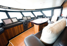 Interior of yacht Stock Images