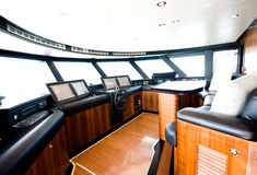 Interior of yacht Royalty Free Stock Images