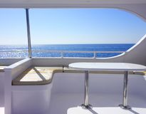 Interior of yacht. Image of interior of yacht Stock Photo