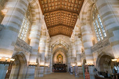 Interior of Yale University library royalty free stock photos