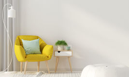 Interior with a yellow armchair Royalty Free Stock Photo