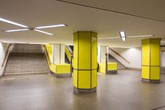 Yellow Hamburg metro Royalty Free Stock Photo