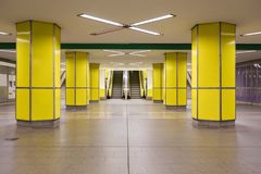 Yellow Hamburg metro Stock Image