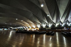 Interior of Yokohama Port Terminal Stock Image