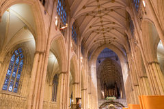 Interior of York Minster Cathedral Stock Photo
