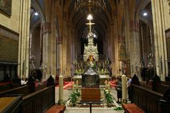 Interior of Zagreb cathedral, Croatia Royalty Free Stock Images