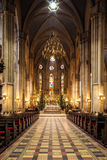 Interior of Zagreb Cathedral Stock Photography