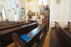 Interiore 02 della chiesa Fotografie Stock