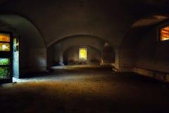 Interiore abbandonato della casa Fotografie Stock Libere da Diritti