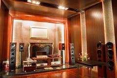 Interiore ad alta fedeltà di lusso dello studio Fotografia Stock