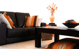 Interiore arancione Fotografie Stock Libere da Diritti