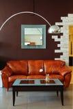 Interiore arancione Fotografie Stock