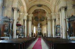 Interiore arminiano di Gherla, Romania della chiesa fotografia stock libera da diritti