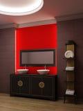 Interiore asiatico della stanza da bagno di stile Fotografia Stock Libera da Diritti