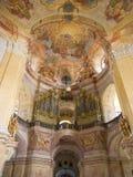 Interiore barrocco della chiesa di pellegrinaggio Fotografia Stock