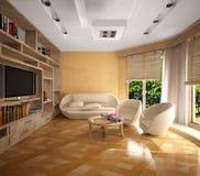 Interiore beige Fotografie Stock Libere da Diritti