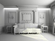 Interiore in bianco Fotografie Stock