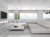 Interiore bianco dell'appartamento Fotografie Stock