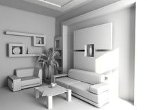 Interiore in bianco dell'ufficio Fotografie Stock Libere da Diritti
