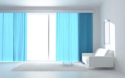 Interiore bianco sereno Fotografie Stock