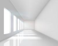 Interiore bianco vuoto Immagine Stock
