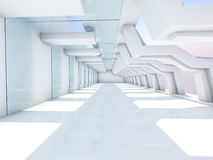 Interiore bianco vuoto 3d Fotografie Stock Libere da Diritti