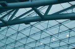 Interiore blu fotografie stock