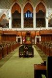 Interiore canadese della costruzione del Parlamento Fotografia Stock