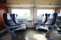 Interiore cinese del treno veloce Fotografia Stock Libera da Diritti