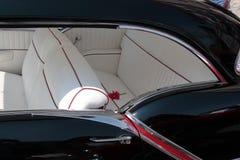 Interiore classico dell'automobile Fotografia Stock