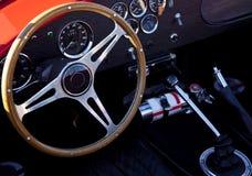 Interiore classico dell'automobile sportiva Immagini Stock