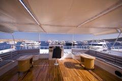 Interiore classico dell'yacht Fotografie Stock