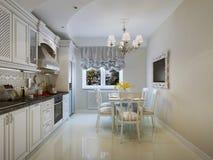 Interiore classico della cucina di stile Fotografia Stock