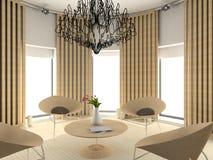 Interiore comodo moderno immagine stock