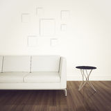 Interiore comodo moderno con la rappresentazione 3d Immagine Stock Libera da Diritti