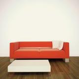 Interiore comodo moderno con la rappresentazione 3d Fotografia Stock Libera da Diritti