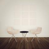 Interiore comodo moderno con la rappresentazione 3d Immagini Stock
