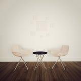 Interiore comodo moderno con la rappresentazione 3d Fotografie Stock