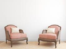 Interiore con due poltrone Fotografie Stock Libere da Diritti