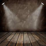 Interiore con i riflettori Immagini Stock Libere da Diritti